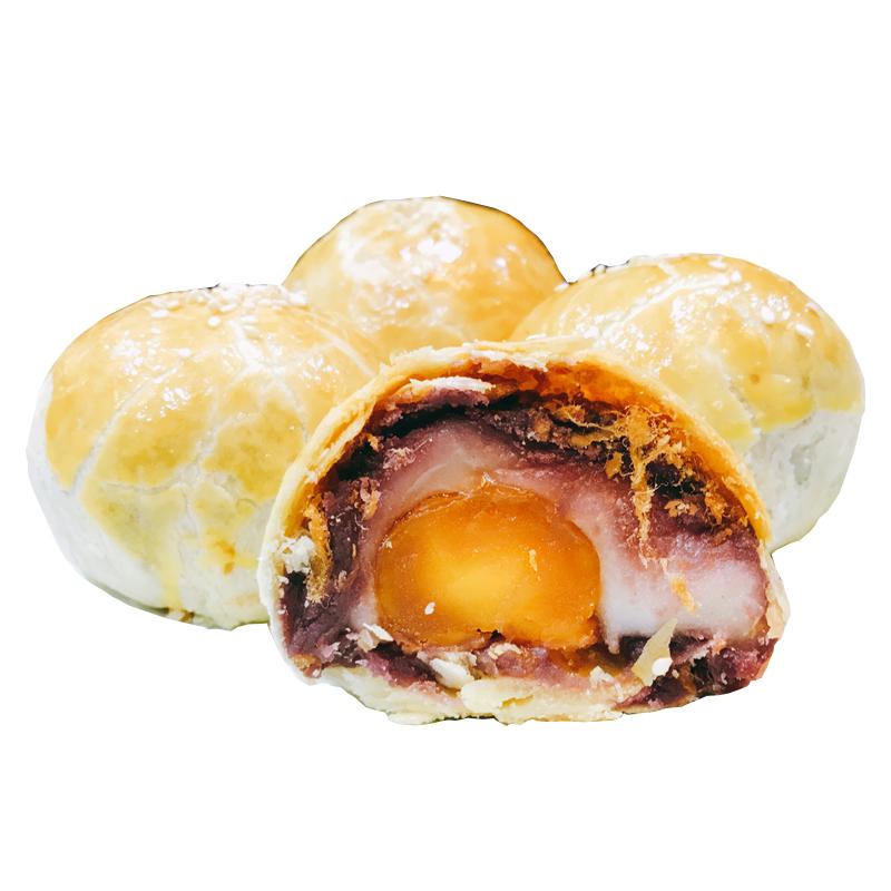 低糖手工蛋黄酥榴莲味糕点 紫薯麻薯肉松馅中馅 休闲零食美味特产_淘宝优惠券