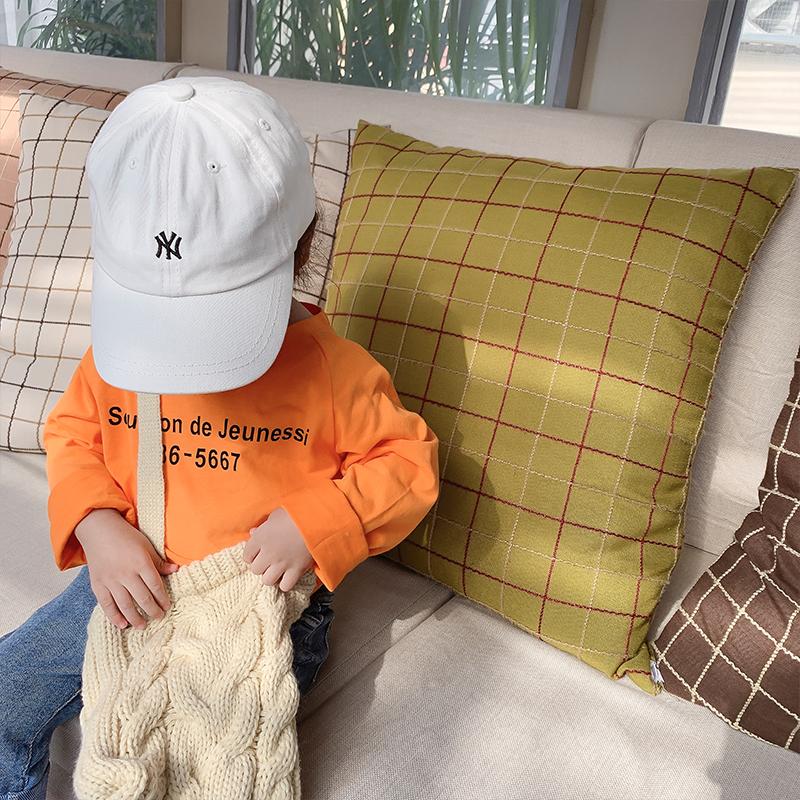 小森妈婴童店 女童小字母打底衫秋装新款女宝宝纯色百搭长袖T恤