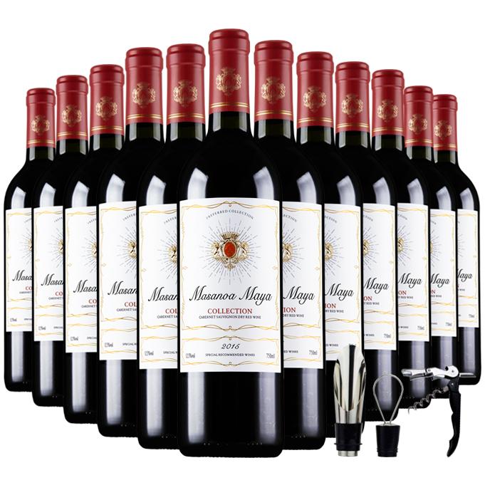 【买一箱送一箱】法国进口红酒葡萄酒12支券后114元包邮