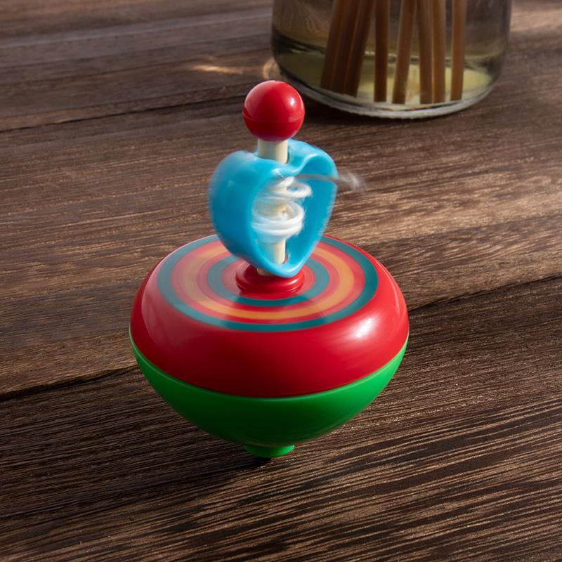 怀旧传统玩具超能转的夜光陀螺儿童户外玩具拉线陀螺发光