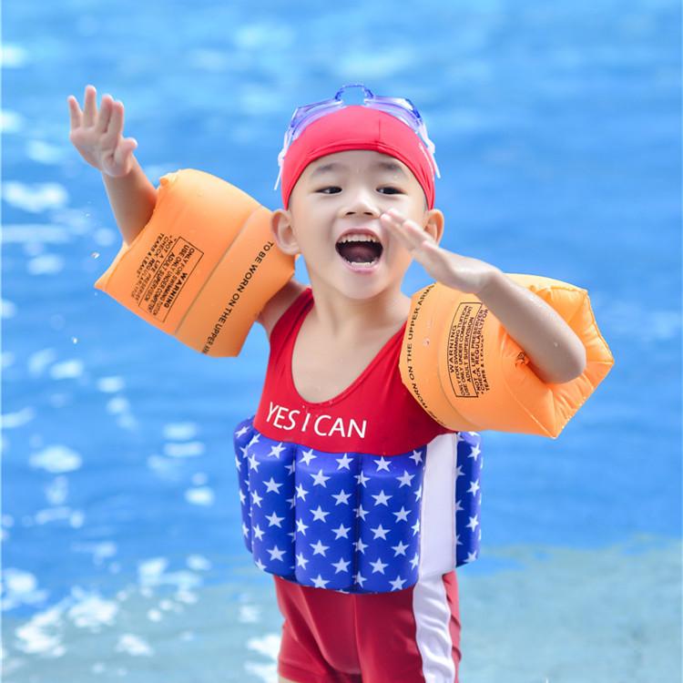 学游泳手臂圈成人儿童加厚 双气囊游泳水袖浮袖装备小孩宝宝卡通
