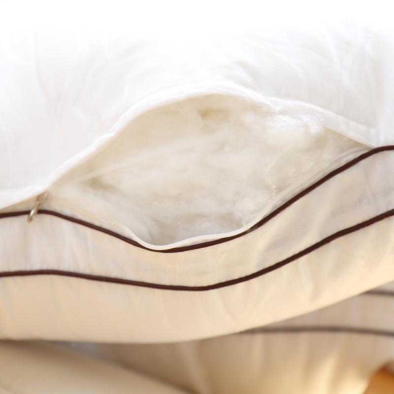 工厂出口日本枕芯超软正反全棉枕头芯子高品质白色半软管立体枕芯