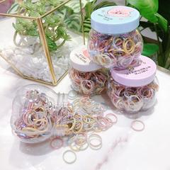 新款发绳盒装小皮筋净版皮套彩色发圈简单细圈刘海发饰儿童头绳