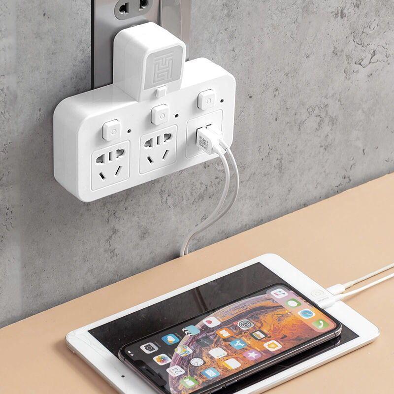 居家日用多功能无线插座转换器插头一转多插