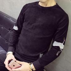实拍5108#2018秋季新款个性男装宽松卫衣韩版长袖套头