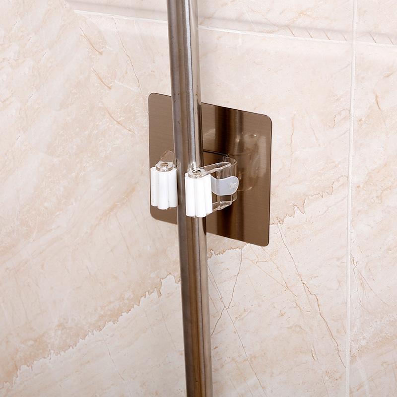 无痕强力吸盘拖把挂钩多功能拖把架壁挂卫生间门后免钉扫把挂架夹