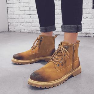 春季男鞋马丁靴英伦休闲皮鞋