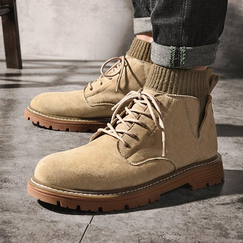 时尚战靴·型男必备|袜子口马丁高帮靴子复古工装靴马丁鞋男靴