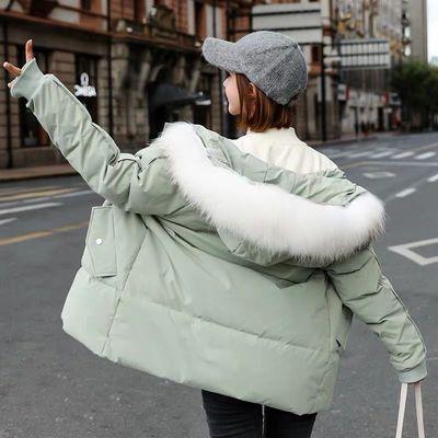 棉服女短款2020冬季新款大毛领面包服女学生韩版宽松ins加厚棉衣