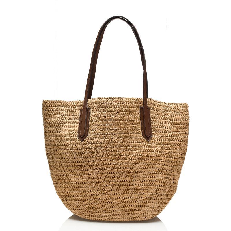 NEW Women Straw Woven Beach Tote Shoulder Bag Shopping ...