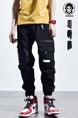 Chất lượng cao thời trang đường phố quần dây kéo thiết kế gốc Mỹ ngụy trang đa túi quần âu quần yếm quần chân quần Quần làm việc