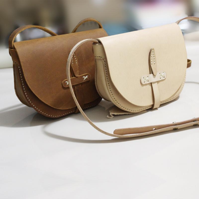 欸尚原创设计手工头层牛皮女包单肩斜挎包时尚个性简约风格小包