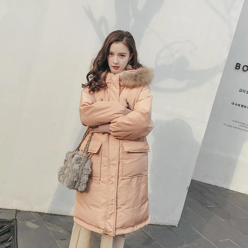 chic棉服bf女装中长款2017新款冬装原宿羽绒棉衣外套ulzzang棉袄