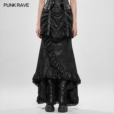 taobao agent PUNK RAVE pr Punk State Women's Steampunk Gorgeous Aristocratic Dark Pattern Mermaid Skirt Steampunk