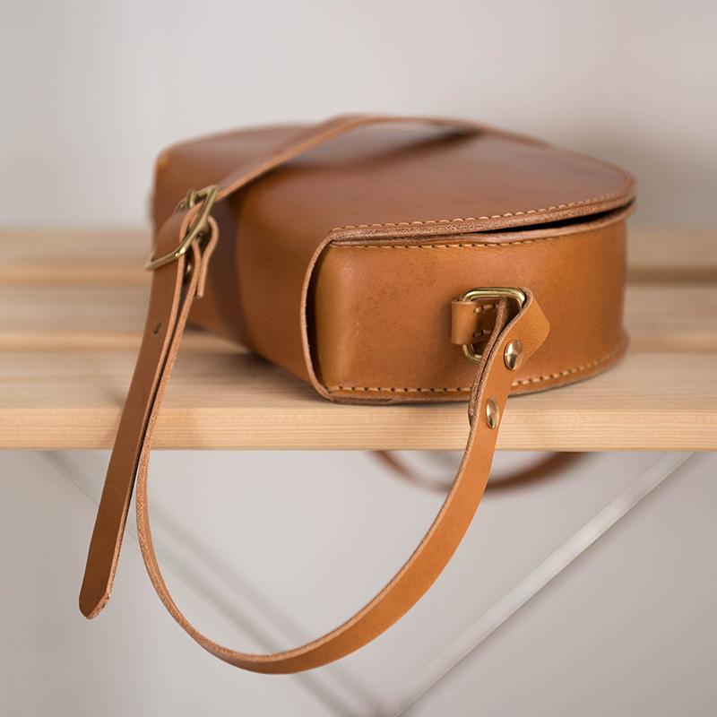 DIY材料包自己做包包复古单肩马鞍包意大利植鞣天然牛皮