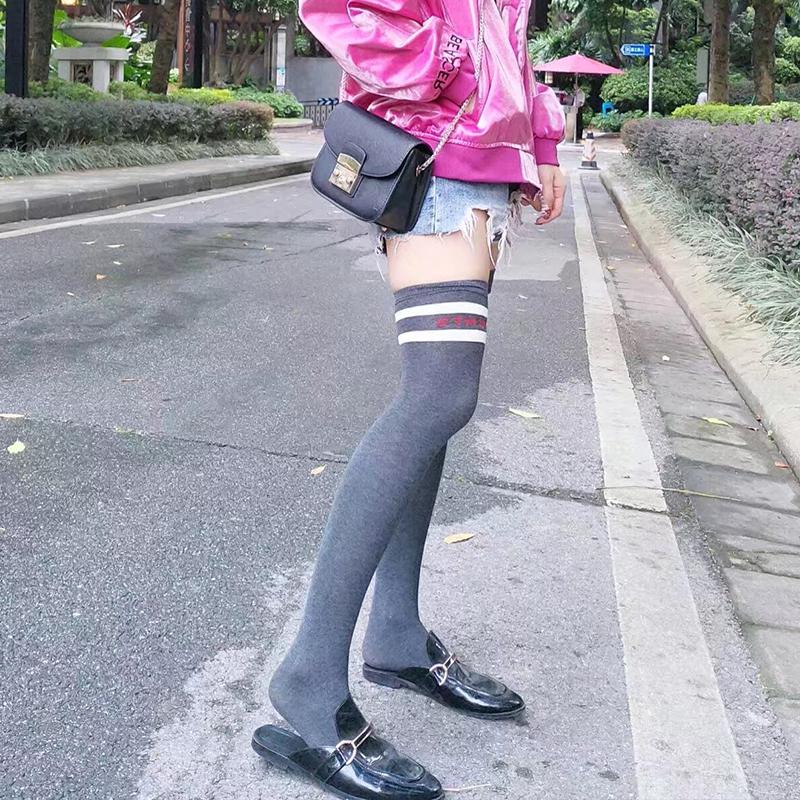 韩国日系长袜子高筒<font color='red'><b>空调</b></font>腿袜女过膝