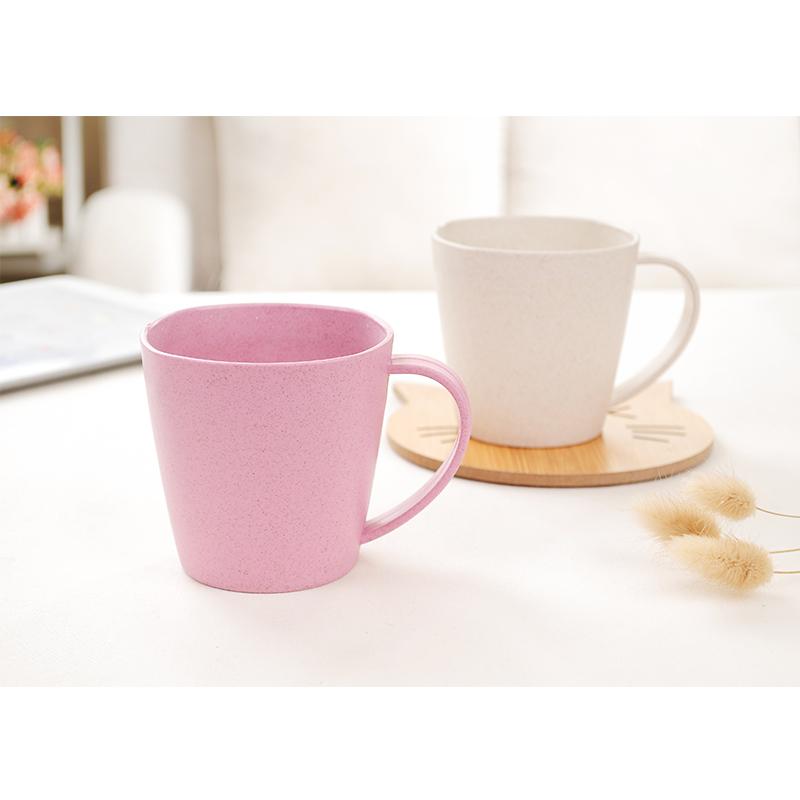 麦秆简约水杯茶杯 创意学生牛奶杯大容量杯子加厚情侣杯咖啡杯