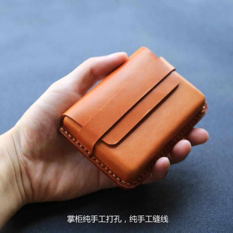 【原创限量】纯手工植鞣头层牛皮卡包男式女士真皮名片包信用卡夹