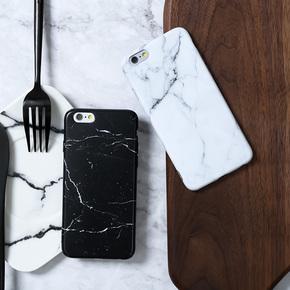 苹果手机壳大理石纹路情侣款简约硅胶手机壳