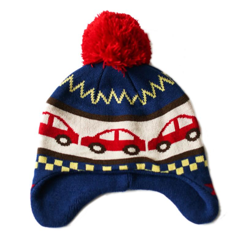 秋冬加厚儿童帽子男童女童护耳帽宝宝毛线帽婴儿保暖针织套头帽