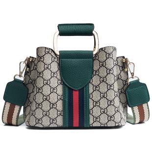 抖音时尚格子女包新款手提包格纹休闲