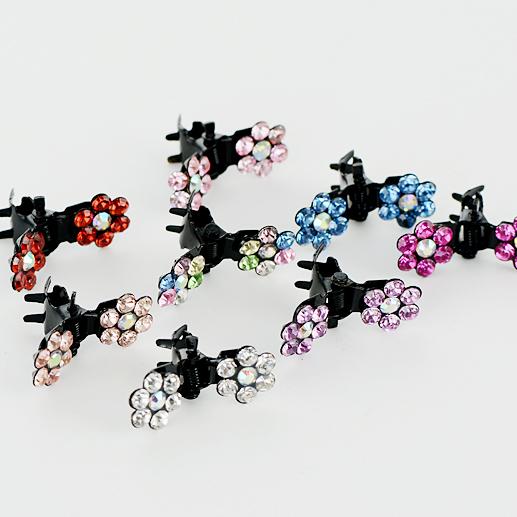 韩国水钻卡通儿童发夹 宝宝刘海夹抓夹女童发饰头饰品 可爱