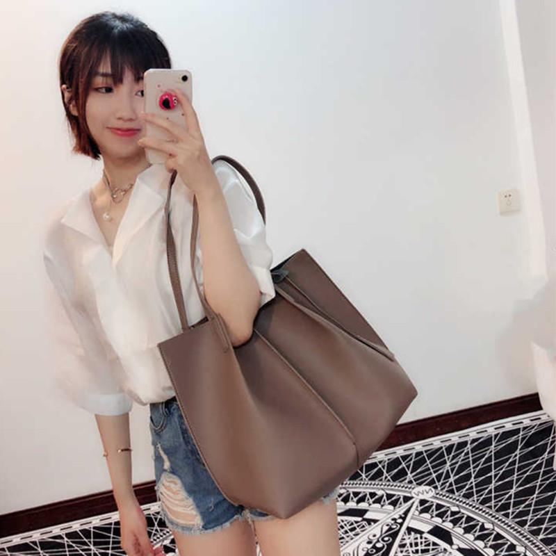 夏天大包包女2018新款潮韩版ins超火包简约单肩包大容量托特包