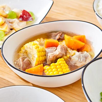 顺祥餐具碗碟家用 北欧陶瓷饭碗新梦想套装异形手绘西餐盘汤面碗