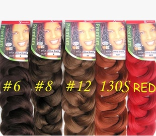 Foreign trade in Europe and America Black Wig braid xpression braid hair extension dirty