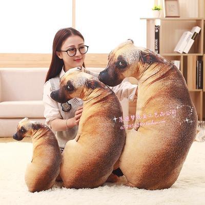 抖音同款公仔礼物 搞怪仿真3D狗抱枕