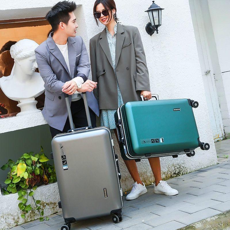 5【结实耐磨】铝框行李箱男女学生拉杆箱密码箱子旅行箱登机箱包