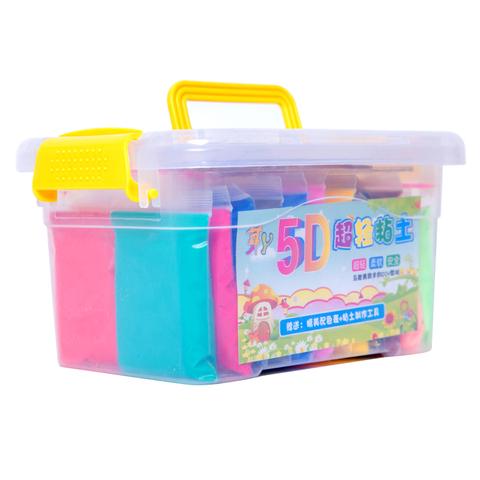 超轻粘土24色盒装套装橡皮泥彩泥超轻泥儿童手工12色36色太空泥土