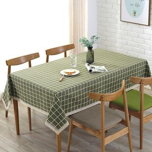 帆布棉麻桌布茶几布餐桌盖布