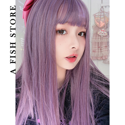 taobao agent 【fable】Yujia*new wig smooth long straight hair with bangs cute and cool spot
