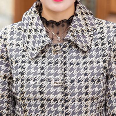 老年春秋外套时尚小西装新款妈妈时尚上衣中年人女士洋气外套