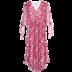 [Giá mới 129 nhân dân tệ] 2018 mùa hè V cổ áo in năm điểm tay áo đầm voan một từ váy váy eo nhẹ nhàng Sản phẩm HOT