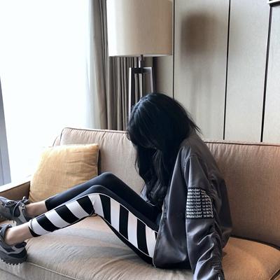 张智研灰色夹克外套女秋新款ins潮宽松休闲运动开衫上衣