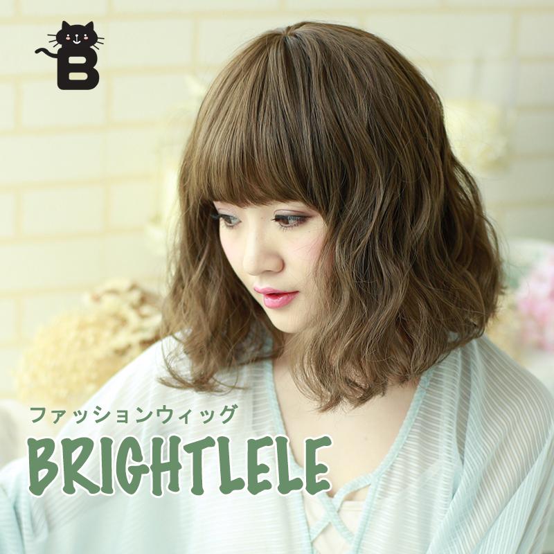 Japanese Fashion Wig Female Short Hair Short Curly Hair Corn Hot