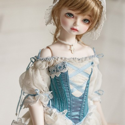 taobao agent 1/4BJD/SD girl court style dress MYOU4 points peas noble skirt suit + wig + shoes