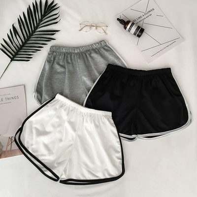 taobao agent 2021 winter new sports shorts classic shorts home fitness trousers hemmed contrast color casual pants women