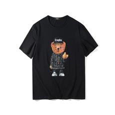 短袖T恤男 2018春夏新款卡通小熊印花男士短袖T恤潮流上衣