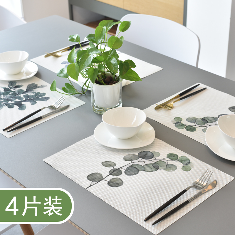 家用餐垫隔热垫西餐垫防油防烫水洗餐桌垫ins北欧日式盘垫碗垫子