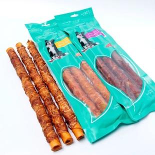 益和宠物猪皮卷鸡肉磨牙棒36cm*3根