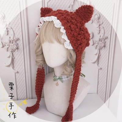 taobao agent Autumn and winter cat ear wool hat ear protection warm cute soft girl hat