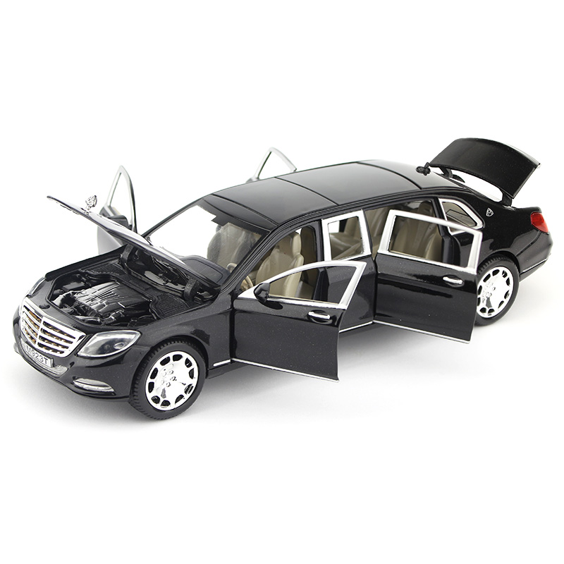 奔驰迈巴赫加长版汽车模型,送朋友小礼物