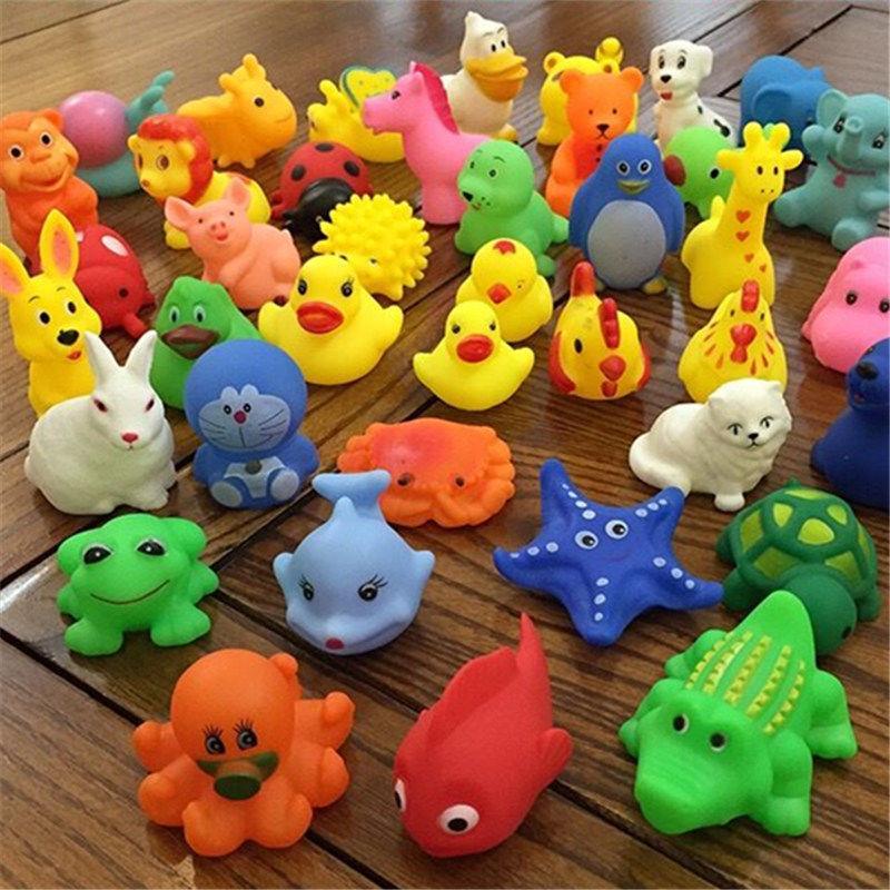 A【20款动物】宝宝洗澡玩具婴儿戏水小鸭子男女孩捏捏叫软胶玩具