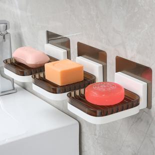 卫生间双层挂式免打孔香皂盒
