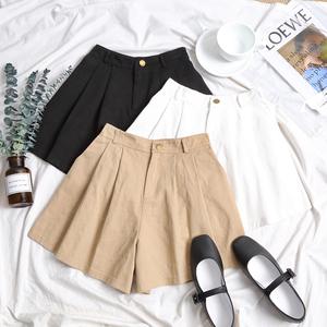 Đông Kawasaki-cho chủ sở hữu Hàn Quốc mùa hè mặc thoải mái đàn hồi eo lỏng mỏng hoang dã quần short giản dị để gửi vành đai