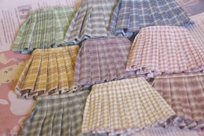 taobao agent New color spot 9 colors 68 free shipping bjd6 points 1/6 doll clothes accessories pleated skirt