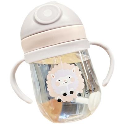 儿童水杯婴幼儿学饮杯吸管杯重力球宝宝饮水杯训练喝水杯子大容量